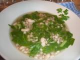 Kroupová polévka s mangoldem a fazolemi recept