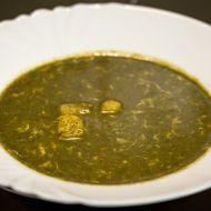 Špenátová polévka s bramborem recept