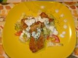 Pečené kuřecí kousky se salátem recept