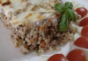 Zapečené rizoto česko-italské hospodyně