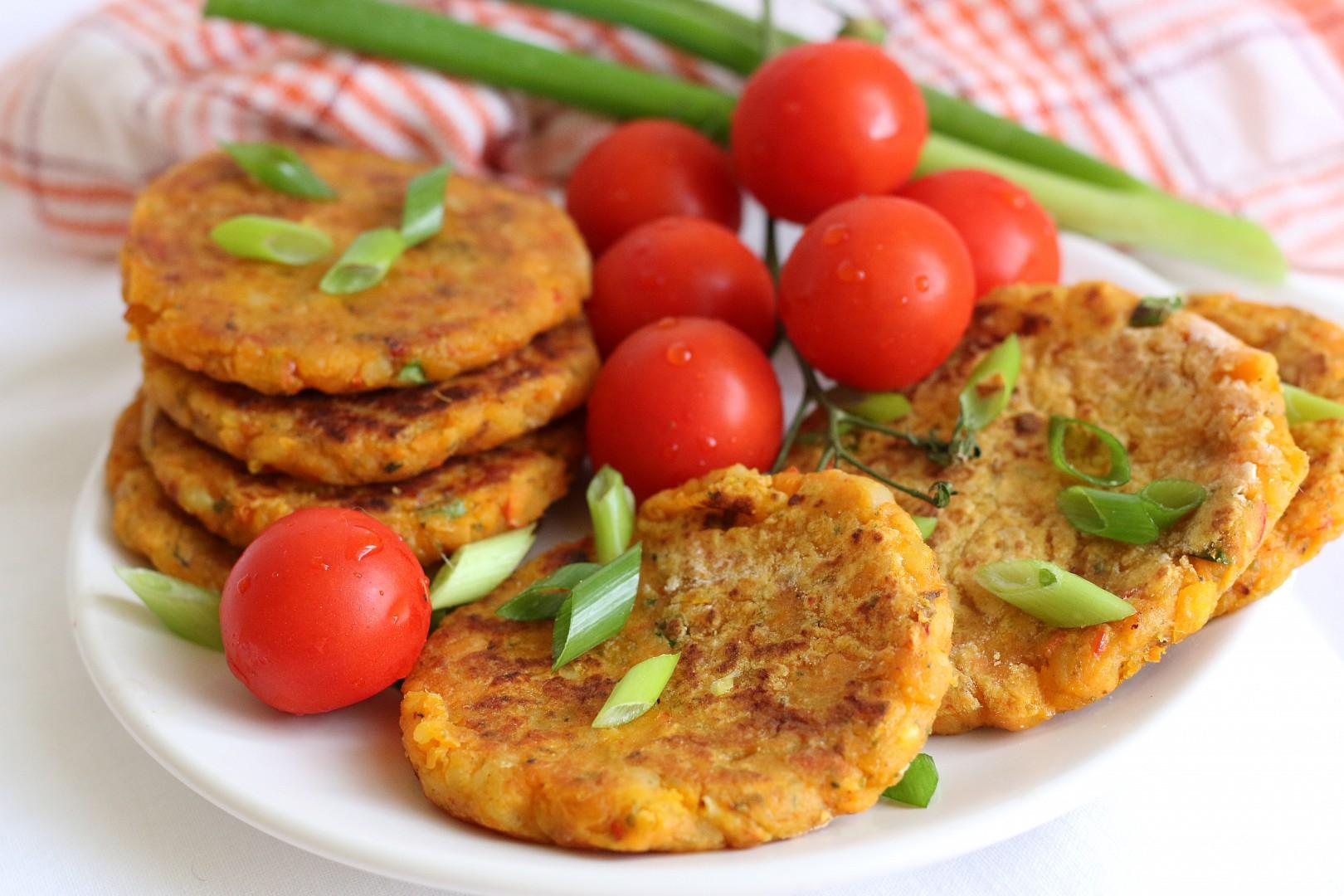 Placičky z batátů, brambor a dýně recept