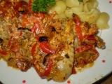 Stehna, nebo křídla v rajčatovo-smetanové směsi recept ...