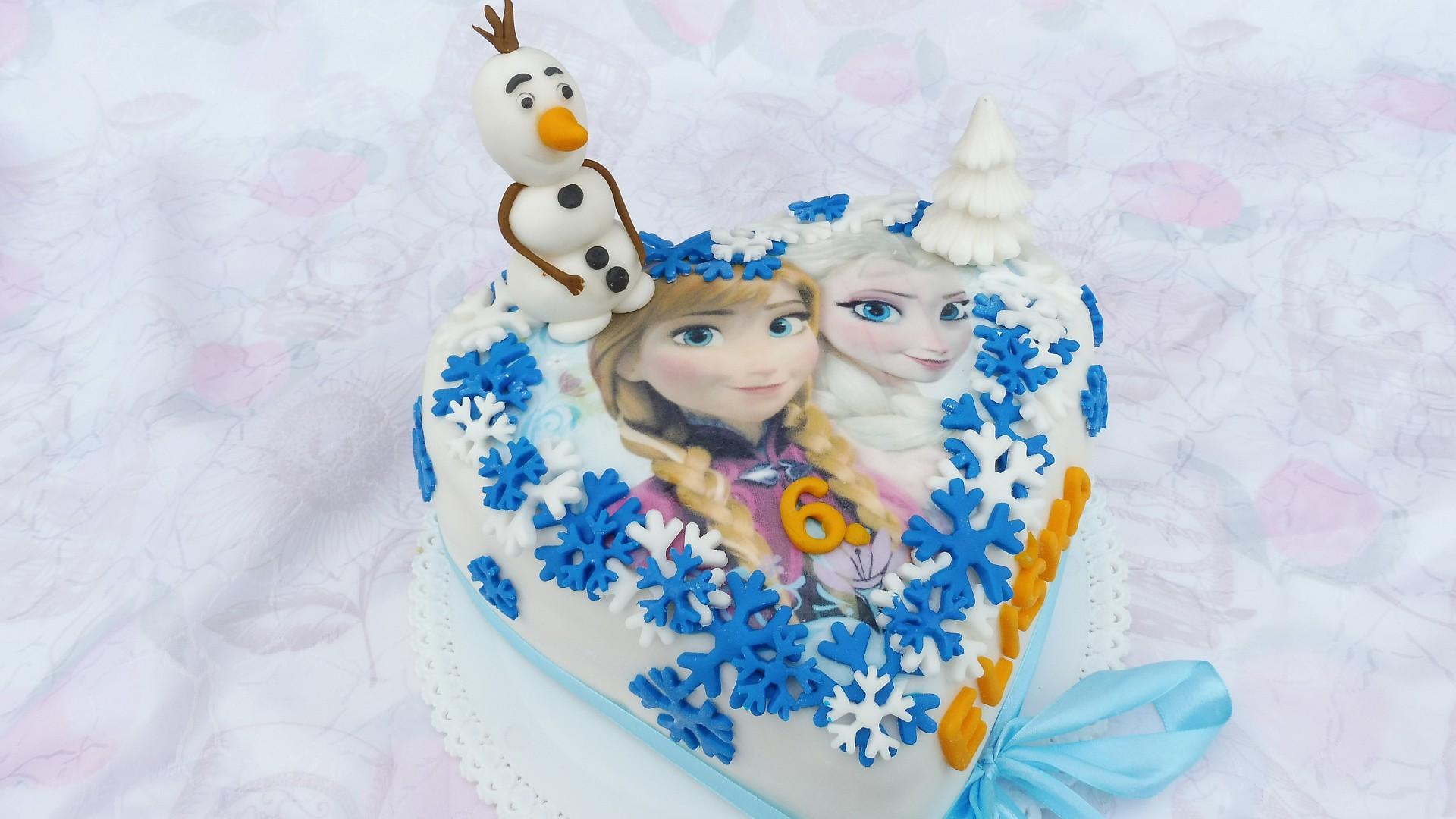 Korpus dortu Ledové království recept