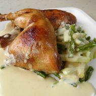 Pečená kuřecí stehna s hořčicovou omáčkou recept