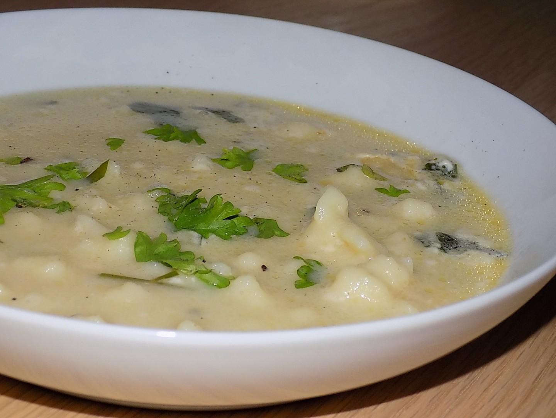 Ostravská polévka stírka recept