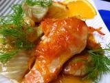 Kuřecí prsa s pečeným fenyklem a pomerančovou omáčkou recept ...