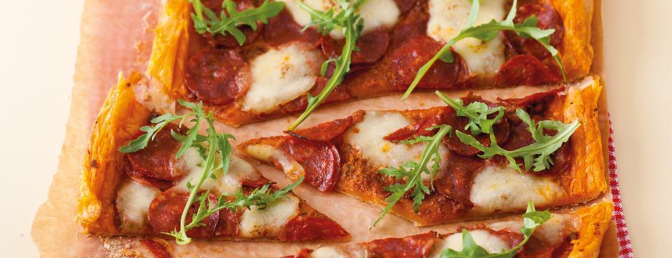 Křehká domácí pizza