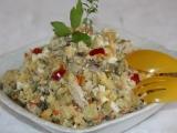 Bramborový salát s kuřecími kousky a hlívou recept