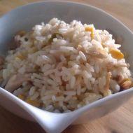 Kuřecí rizoto s kukuřicí a hráškem recept