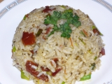 Rýže s pestem a sušenými rajčaty recept