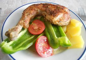 Nejlehčí pečené kuře a brambory
