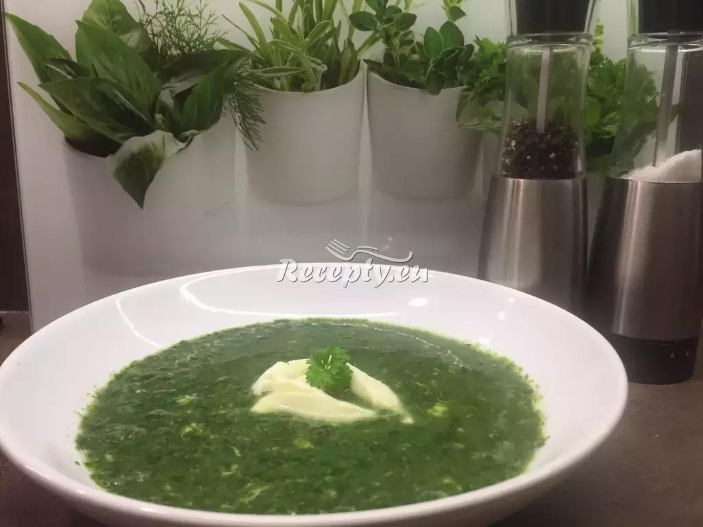 Špenátová fitness polévka recept  fitness recepty