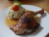 Lehký bramborový salát s kuřátkem ze sáčku recept