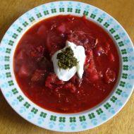 Pravý ruský boršč recept