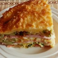 Cuketové lasagne se sýrem a šunkou recept