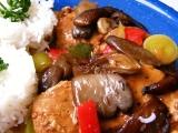 Vepřové na zelenině s opečenou hlívou recept