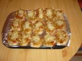 Zapečené chlebíčky s kuřecím masem recept