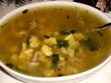 Polévka z kachních drobů se sýrovými noky recept