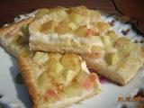 Rebarborový koláč s krupicovou kaší recept