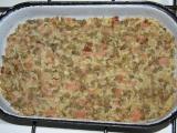 Čočka zapečená s rýží a uzeným masem recept