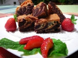Mramorové brownies recept