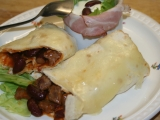 Zapečené tortilly s pikantním hovězím a červenými fazolemi recept ...