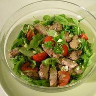 Salát z polníčku a rukoly s kuřecími játry recept