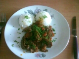 Kuřecí maso se zeleninou a hlívou ústřičnou recept
