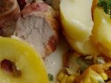 Vepřové palce ve slaninovém přebalu s teplou máslovou zeleninou ...