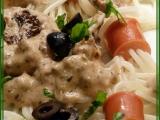 Špagetové vlasatice s přelivem recept