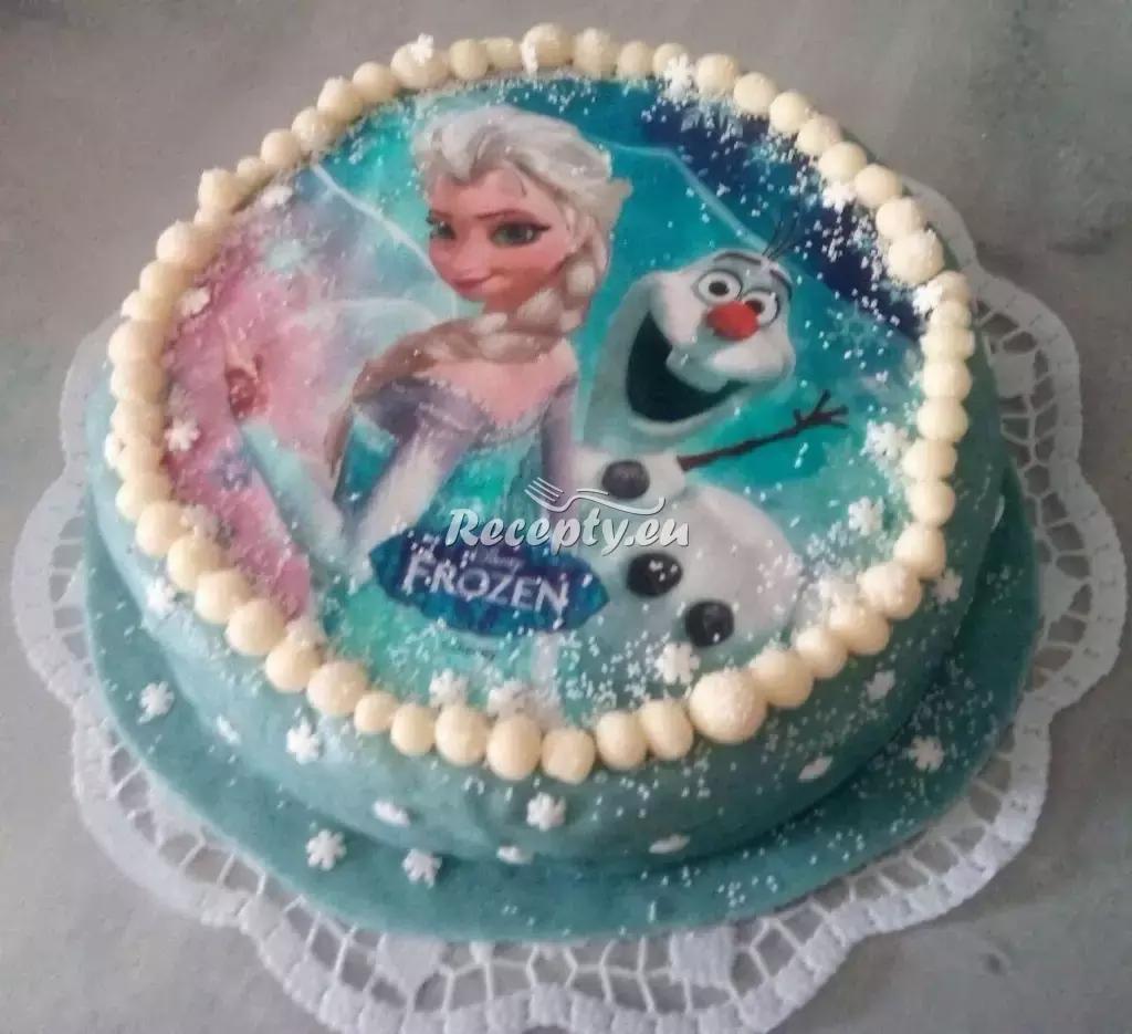 Dort s motivem Ledové království recept  dorty
