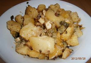Zapečené brambory s uzeným tofu a zázvorem na koriandru ...