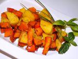Dýně Hokkaido pečená s brambory a mrkví recept