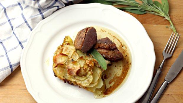 Kachní prsa a brambory s mascarpone