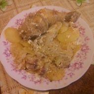 Zapečená kuřecí stehna se zelím recept