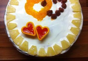 Nepečený tvarohový dort s ovocem II.