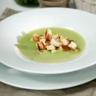 Hrášková polévka s krutonky recept