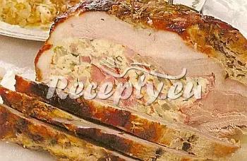 Vepřová pečeně obalená cibulí recept  vepřové maso