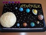 Sluneční soustava  dort recept