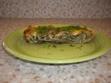 Lasagne s nivou, zelím a špenátem recept