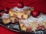 Třešňový koláč z tvarohového těsta recept