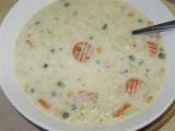 Krémová květáková polévka s jarní zeleninkou recept