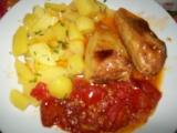 Pečené papriky s rajčaty recept