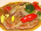 Gyros-krkovičkové plátky se zeleninou recept