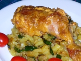 Zapečená uzená kuřecí stehna recept