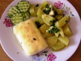 Plátek ze Šmakouna s česnekem a sýrem recept