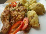 Kuře pečené ve směsi z uzeného sýra, hlívy ústřičné a bylinek ...