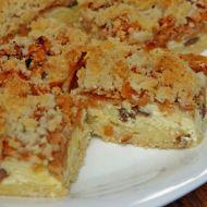 Drobenkový koláč s tvarohem a jablky recept