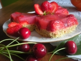 Piškot s jahodovým želé recept