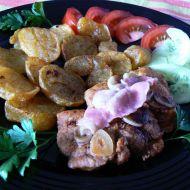 Česnekový vepřový steak recept